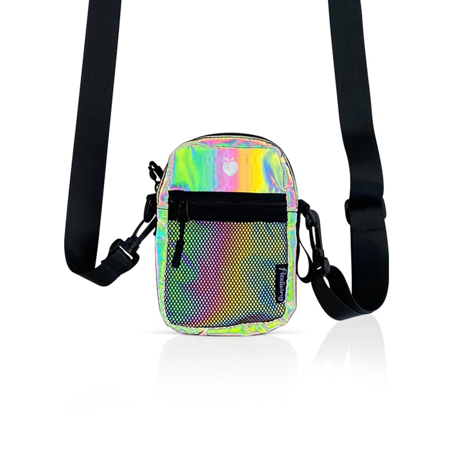 Crossbody Shoulder Bag - Rainbow Reflective