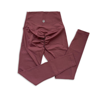 Scrunch Full Length Pant - Brick