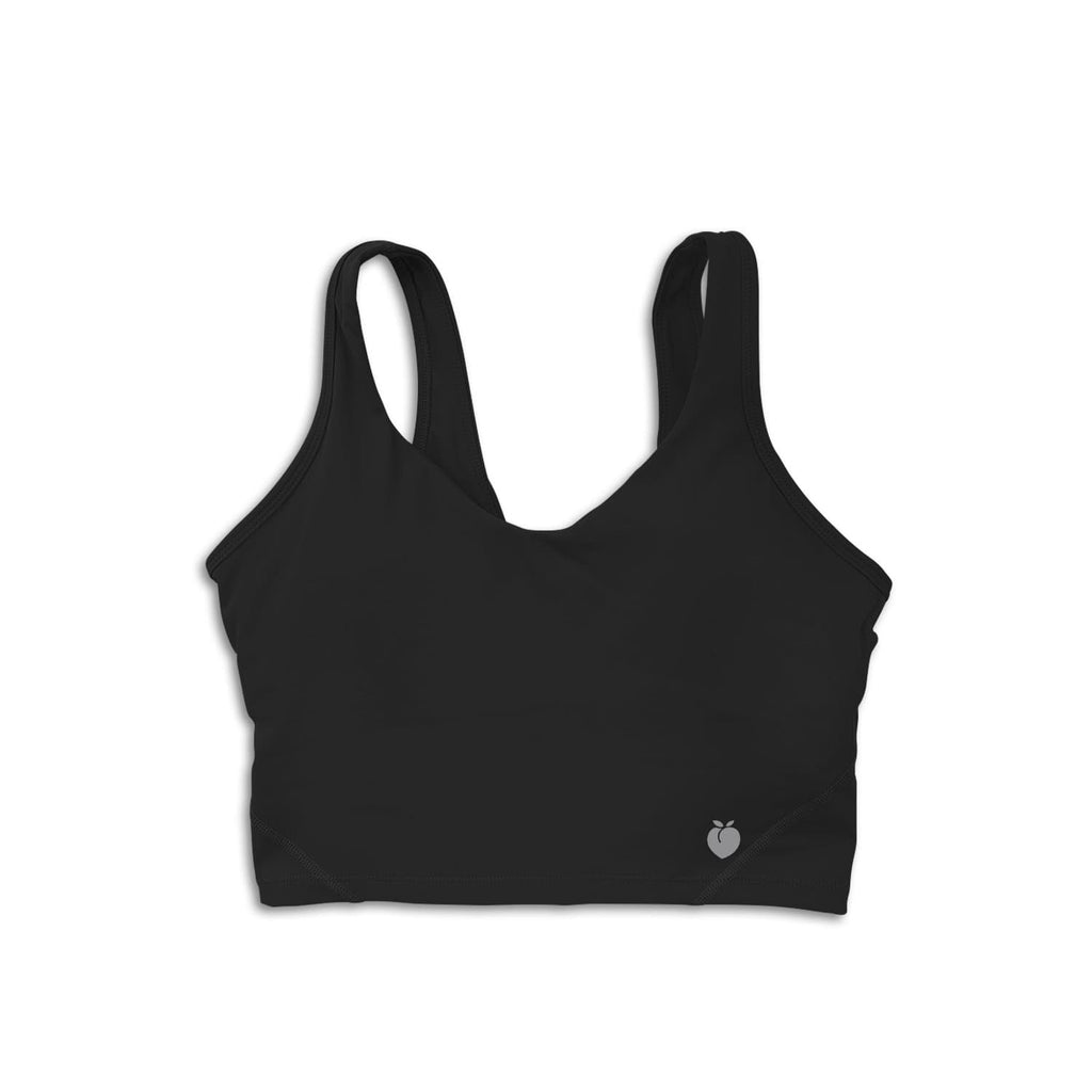 Sleek Crop Tank - Black