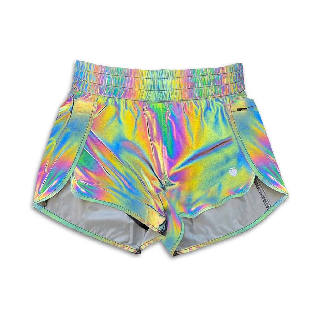 Women's Liner Track Shorts - Rainbow REFLECTIVE