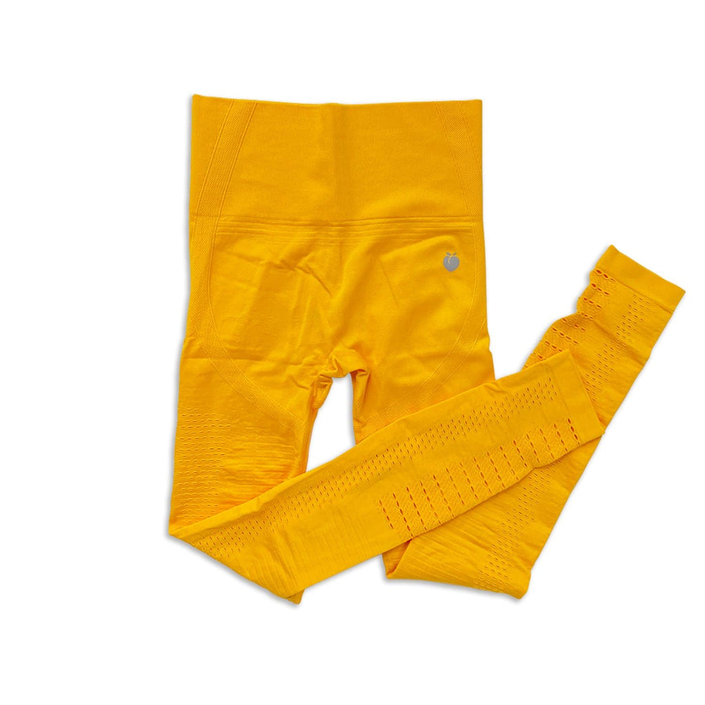 Ribbed Seamless Pant - Royal Yellow