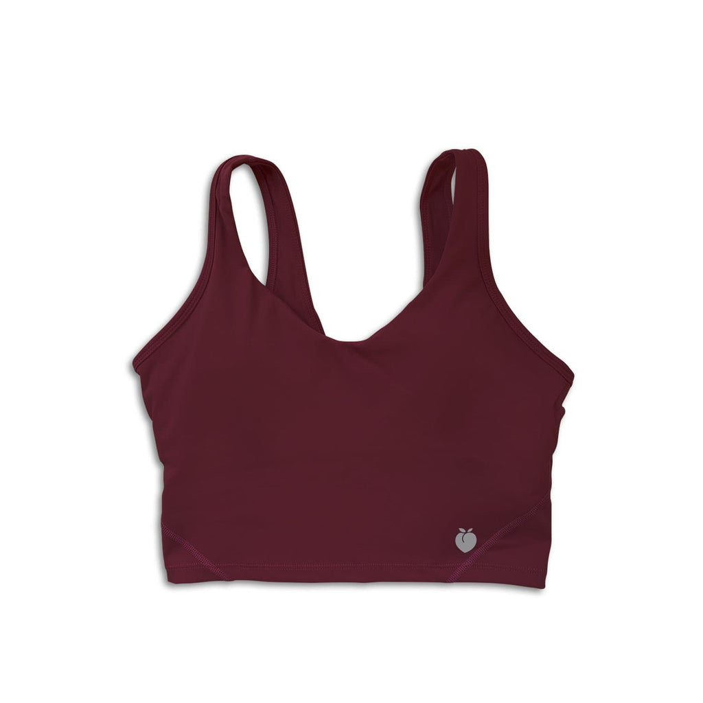 Sleek Crop Tank - Burgundy