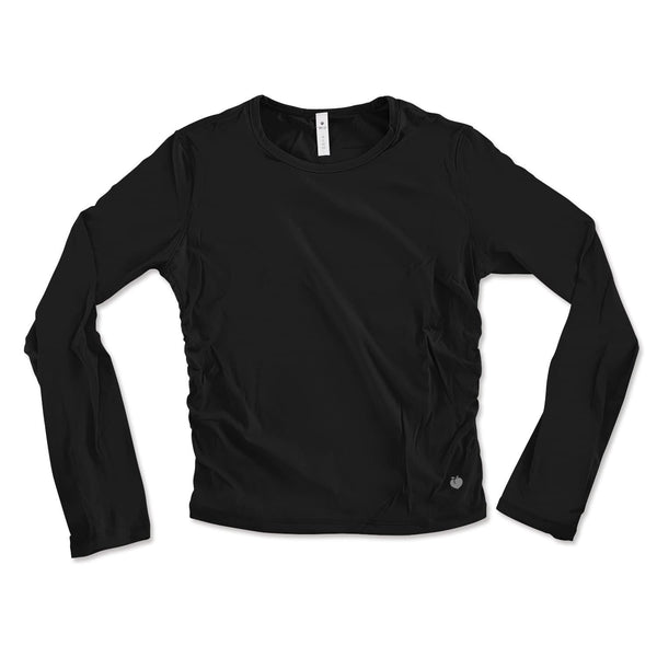 Long Sleeve Active Tee - Black
