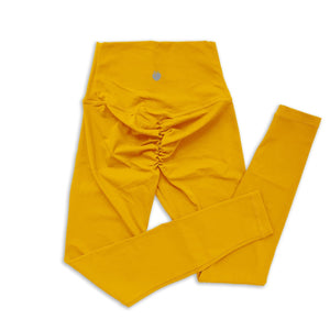 Scrunch Full Length Pant - Empire Yellow