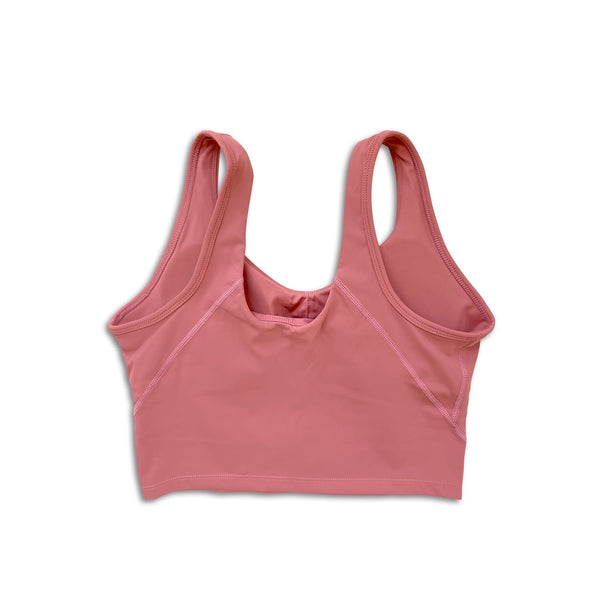Sleek Crop Tank - Pink