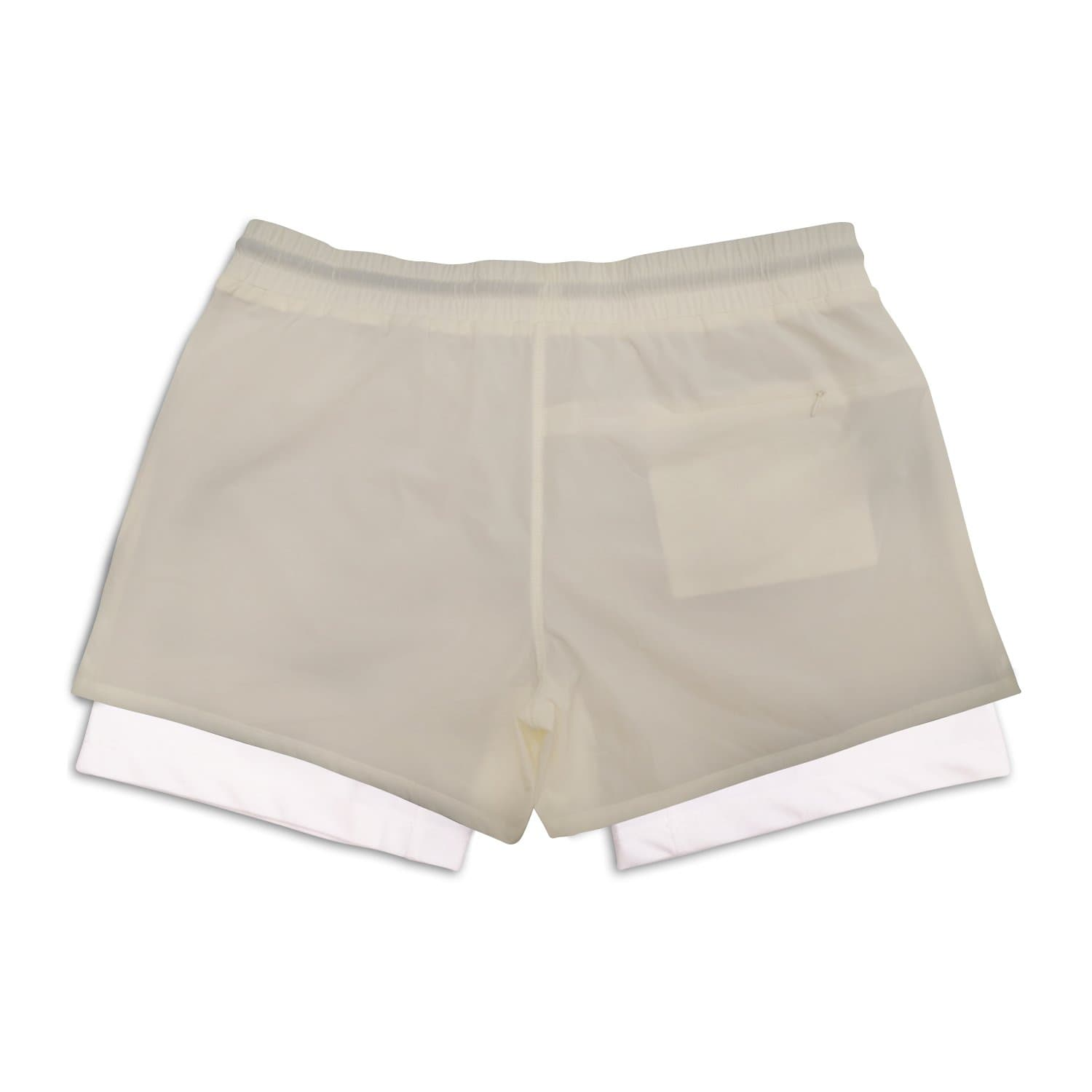 "Men's Active Liner Shorts 5"" - Cream"