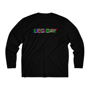 LEG DAY Glitch Men's Long Sleeve Moisture Absorbing Tee