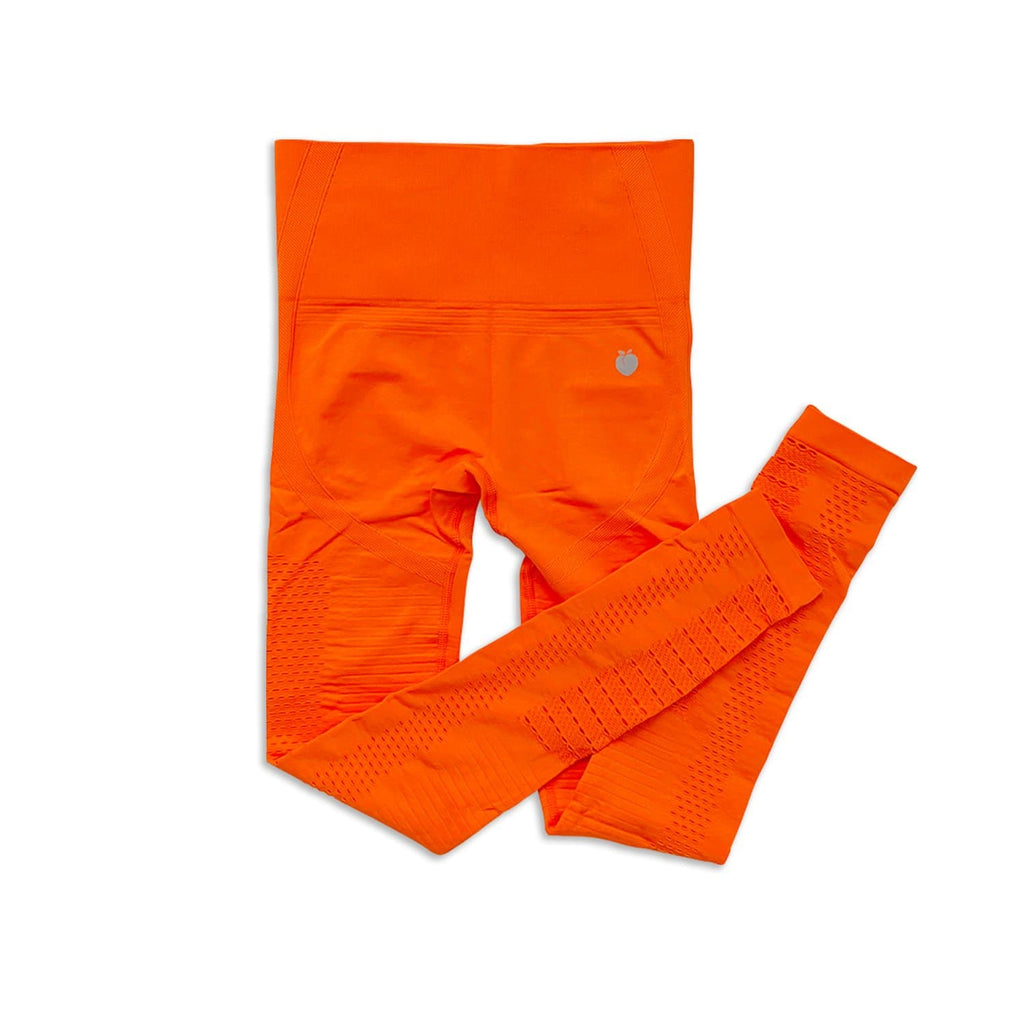 Ribbed Seamless Pant - Orange
