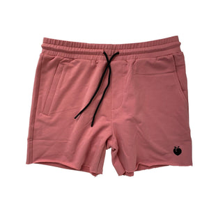 Men's French Terry Bodybuilding Shorts - Salmon