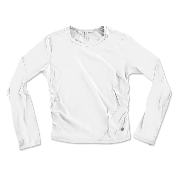 Long Sleeve Active Tee - White