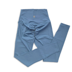Scrunch Full Length Pant - Provence Blue