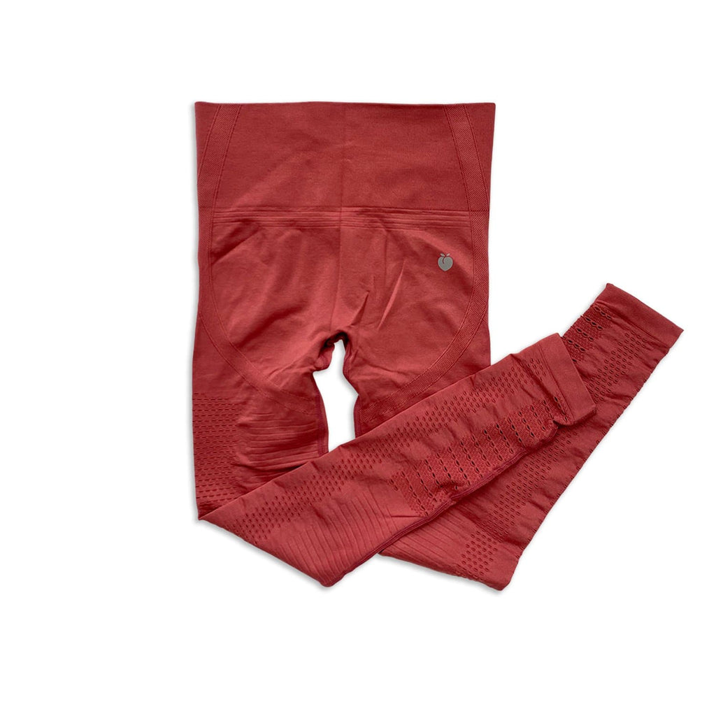 Ribbed Seamless Pant - Rust