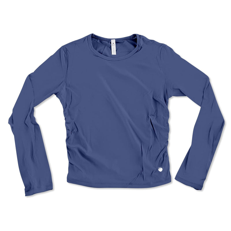 Long Sleeve Active Tee - Raw Blue