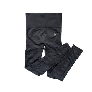 Ribbed Seamless Pant - Charcoal