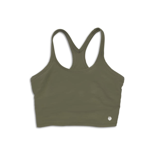 Alive Crop Tank - Army Green
