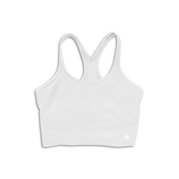 Alive Crop Tank - White
