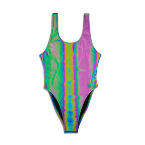 Women's One Piece Swimsuit - Rainbow REFLECTIVE