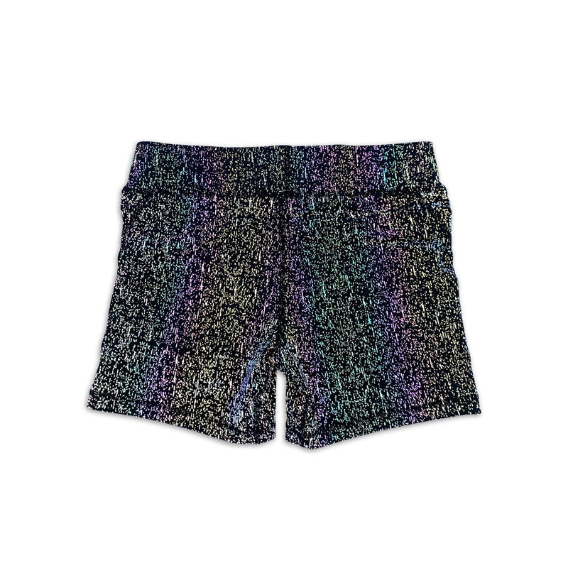 Women's Mid-Rise Active Shorts - Spotted Reflective