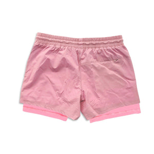"Men's Active Liner Shorts 5"" - Flamingo"