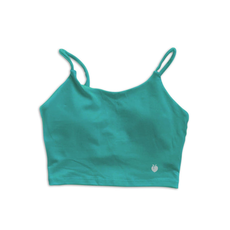 String Crop Top Bra - Emerald