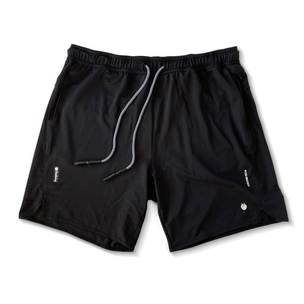 Men's Linerless Silver-Tech Shorts - Black