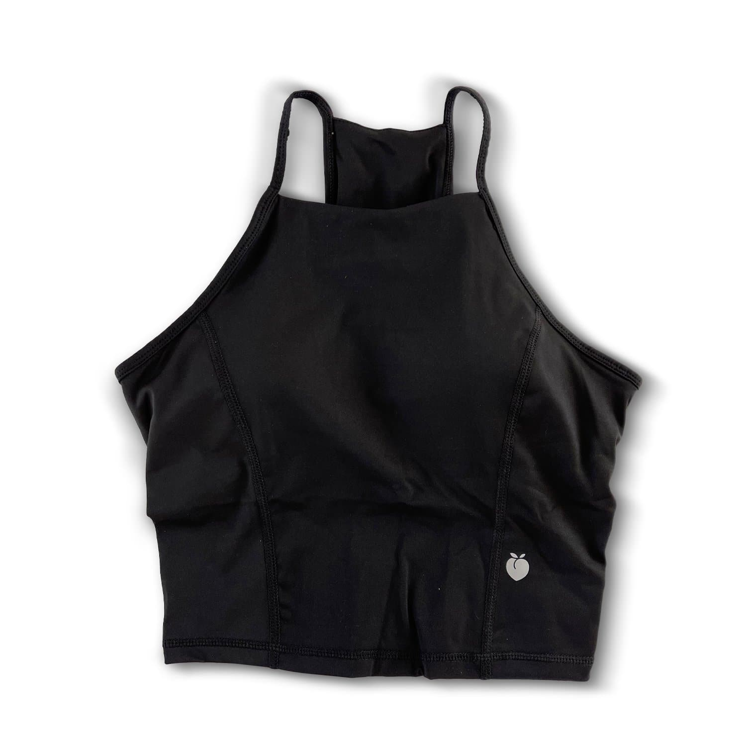 Halter Crop Tank - Black