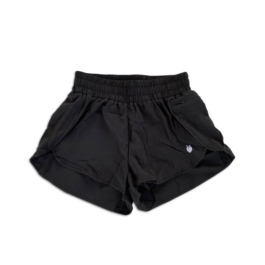 Women's Black Track Shorts (Compression Lined)
