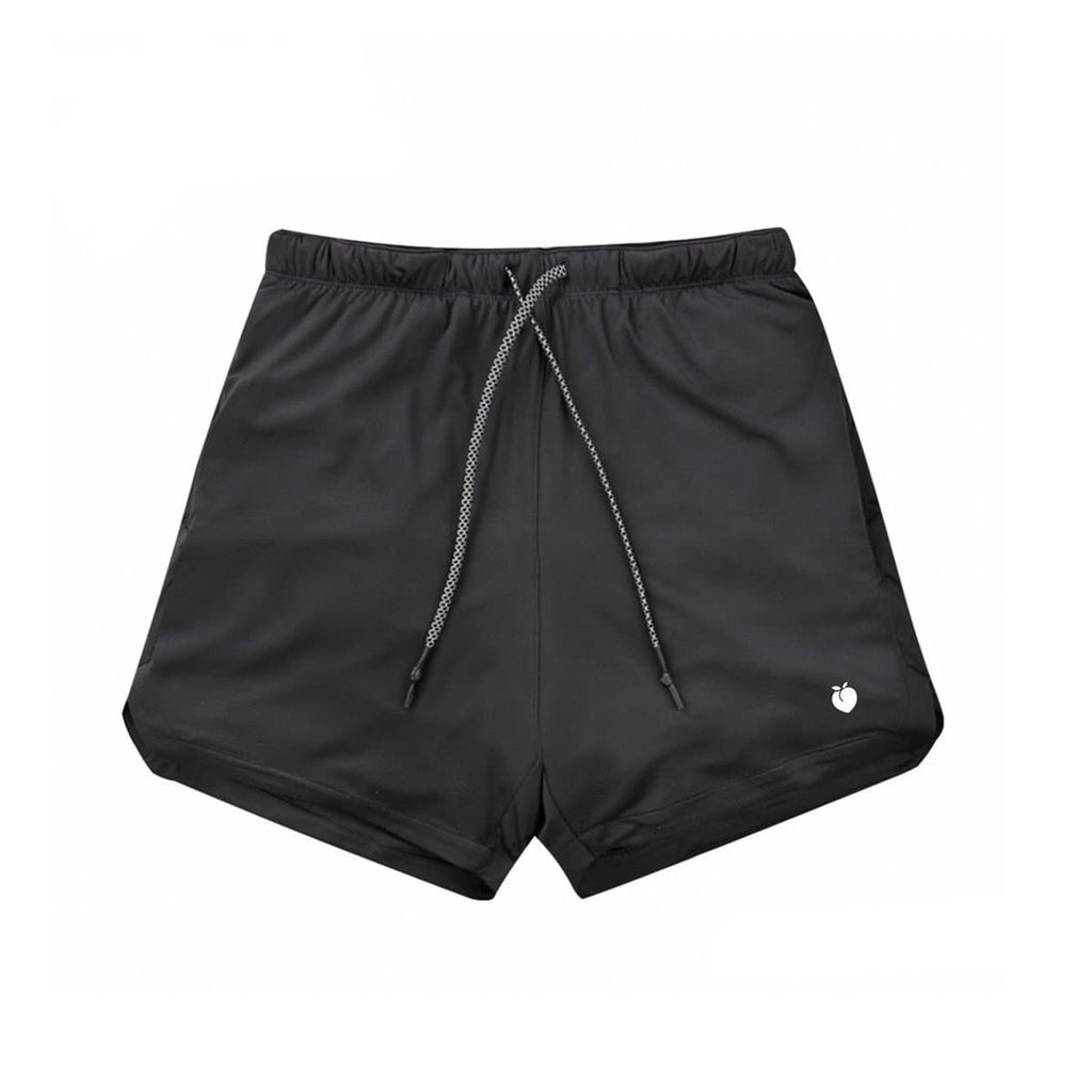 Men's Linerless Active Shorts - Black