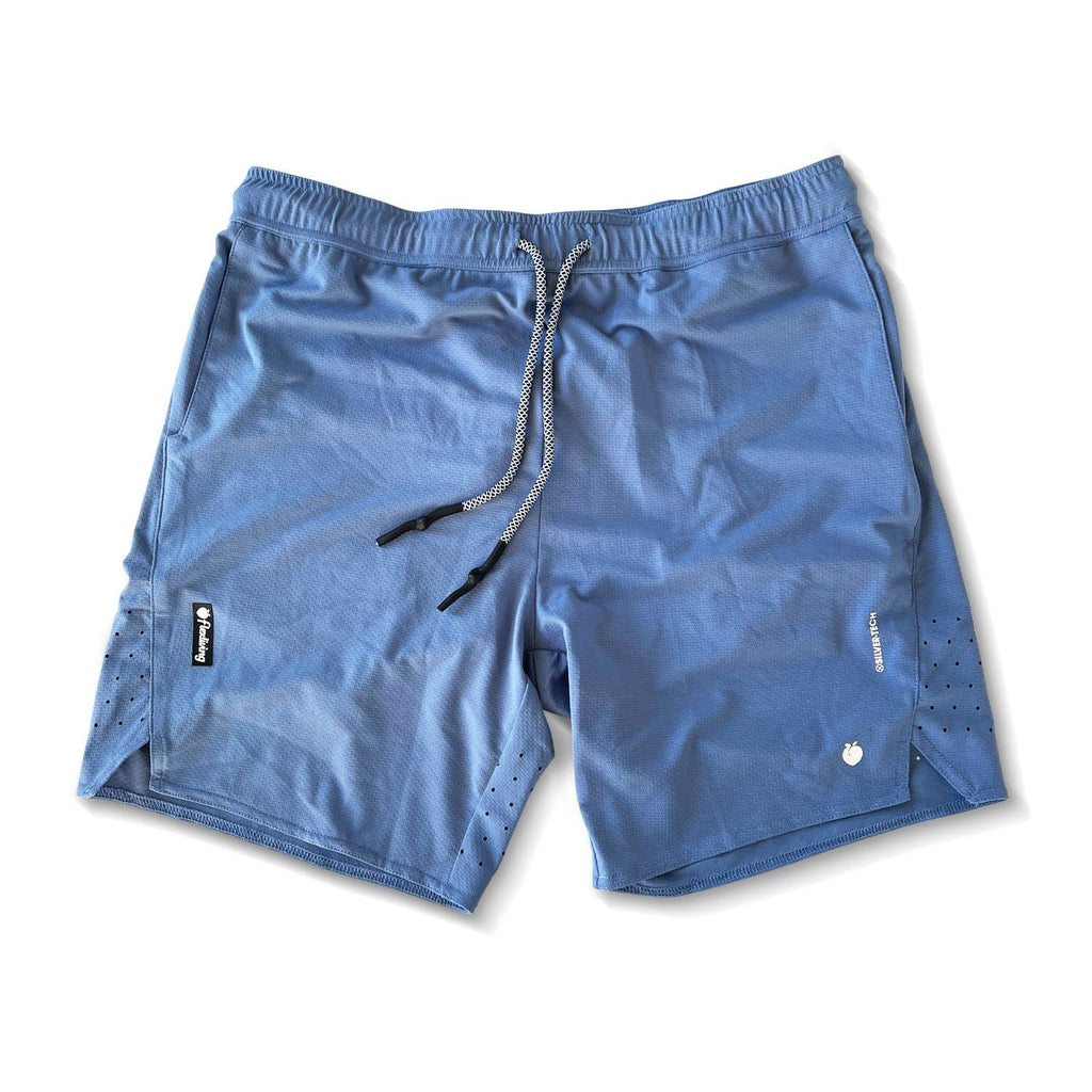 Men's Linerless Silver-Tech Shorts - Baby Blue