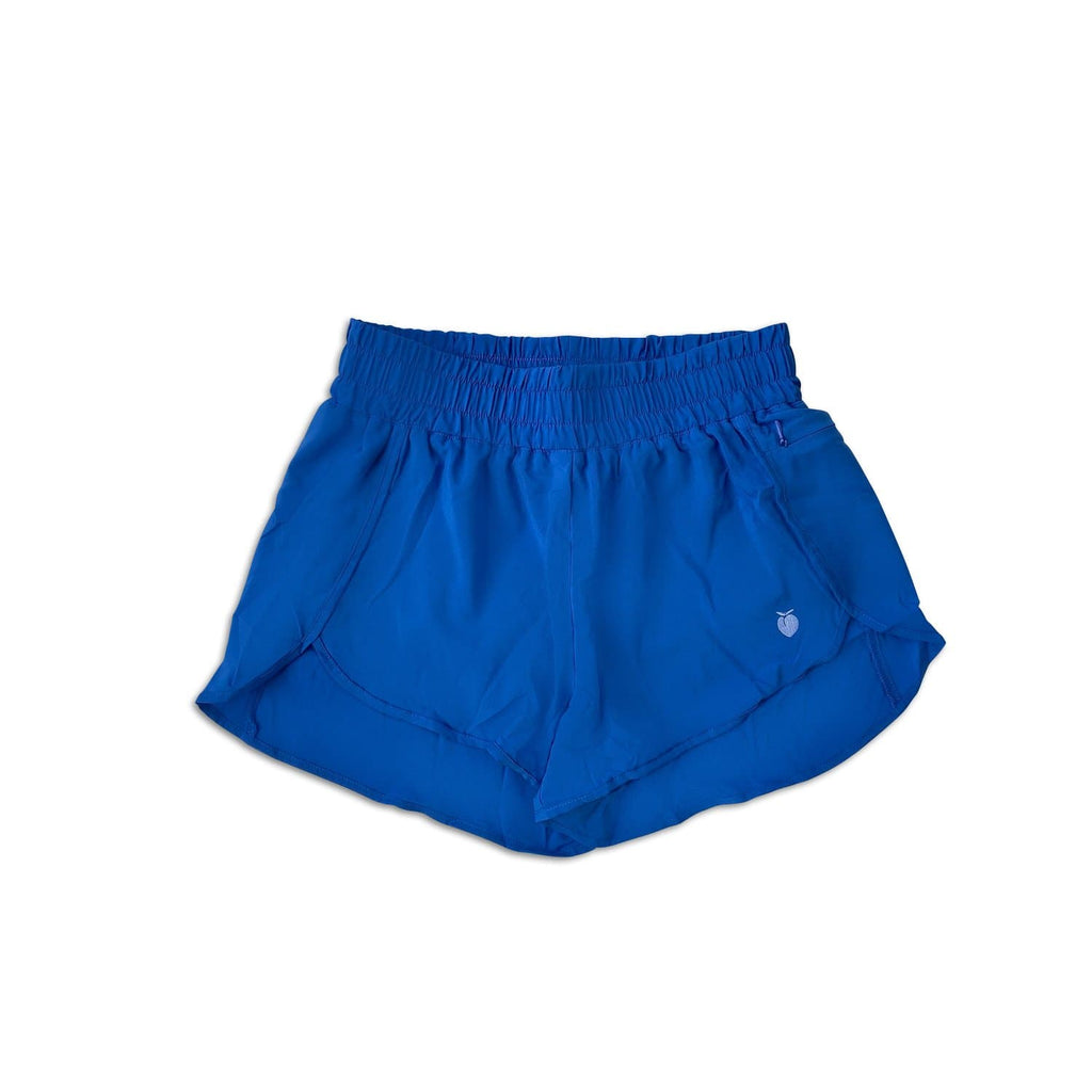 Women's Blue Track Shorts (Compression Lined)