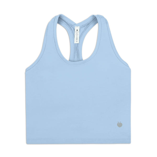 Rush Crop Tank - Baby Blue