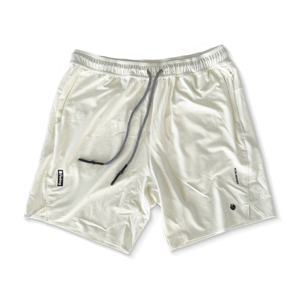 Men's Linerless Silver-Tech Shorts - Cream
