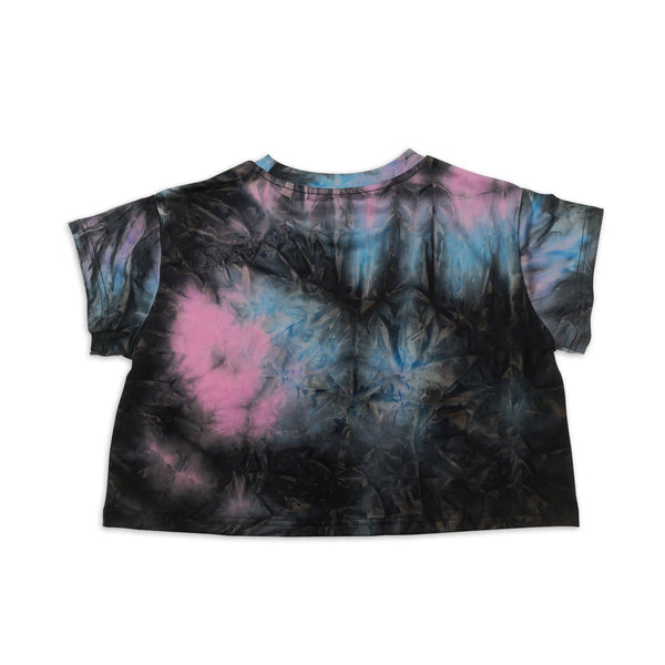 Tie-Dye Crop Tee - Twilight Blue