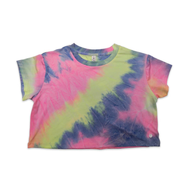 Tie-Dye Crop Tee - Neon Dreams