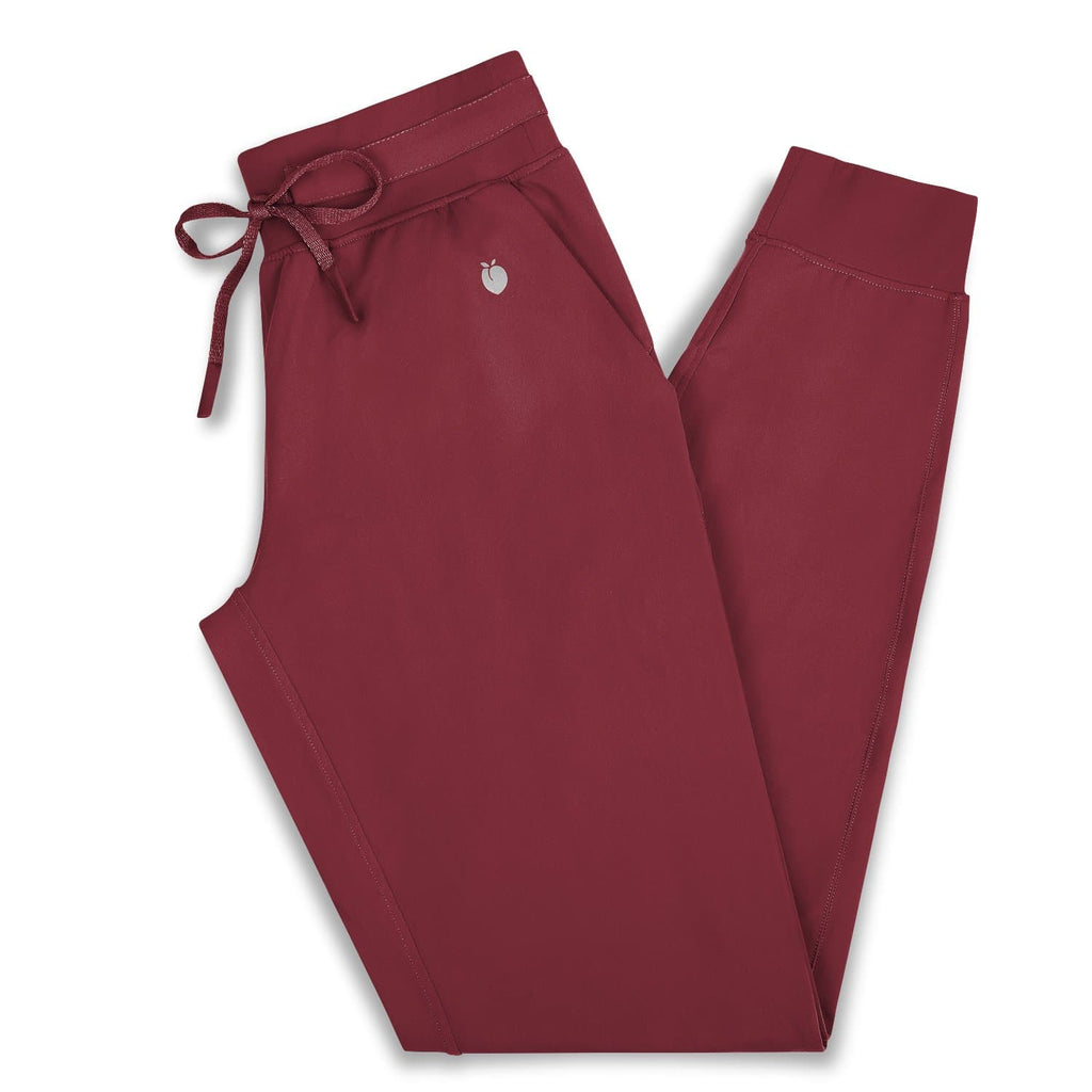 Women's Joggers - Deep Crimson