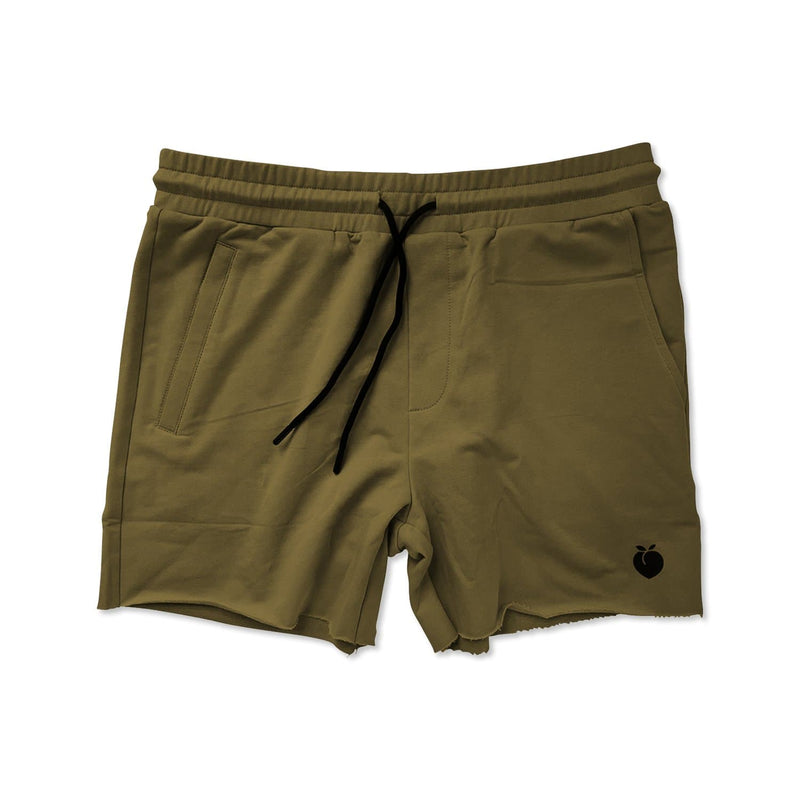 Men's French Terry Bodybuilding Shorts - Olive