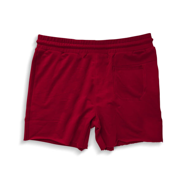 Men's French Terry Bodybuilding Shorts - Wine