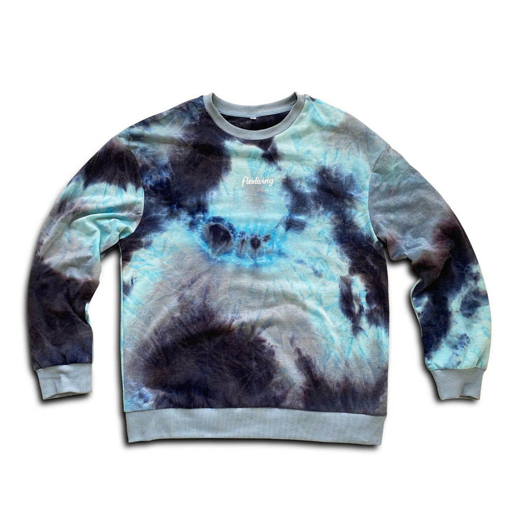 Flexliving EVERYDAY Unisex Sweater - Tie Dye Green
