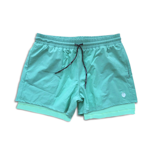 "Men's Active Liner Shorts 5"" - Mint"
