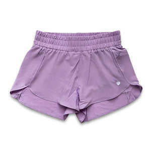 Women's Liner Track Shorts - Lilac