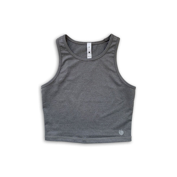 Racerback Crop Top - Glacier Gray