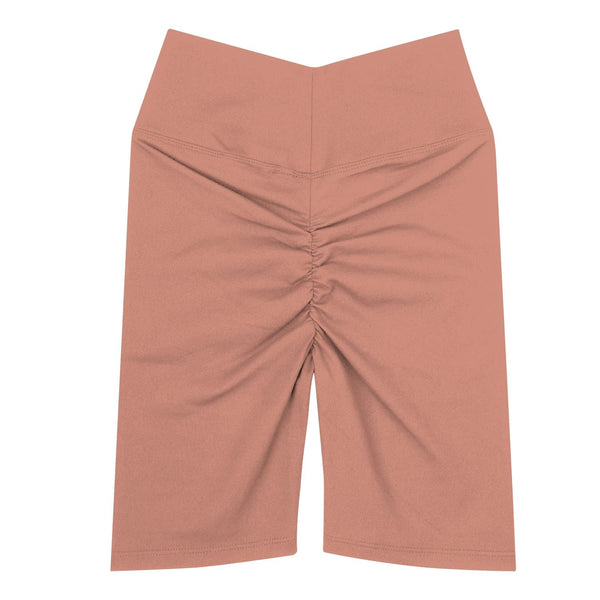 Women's Gather Shorts - Peach