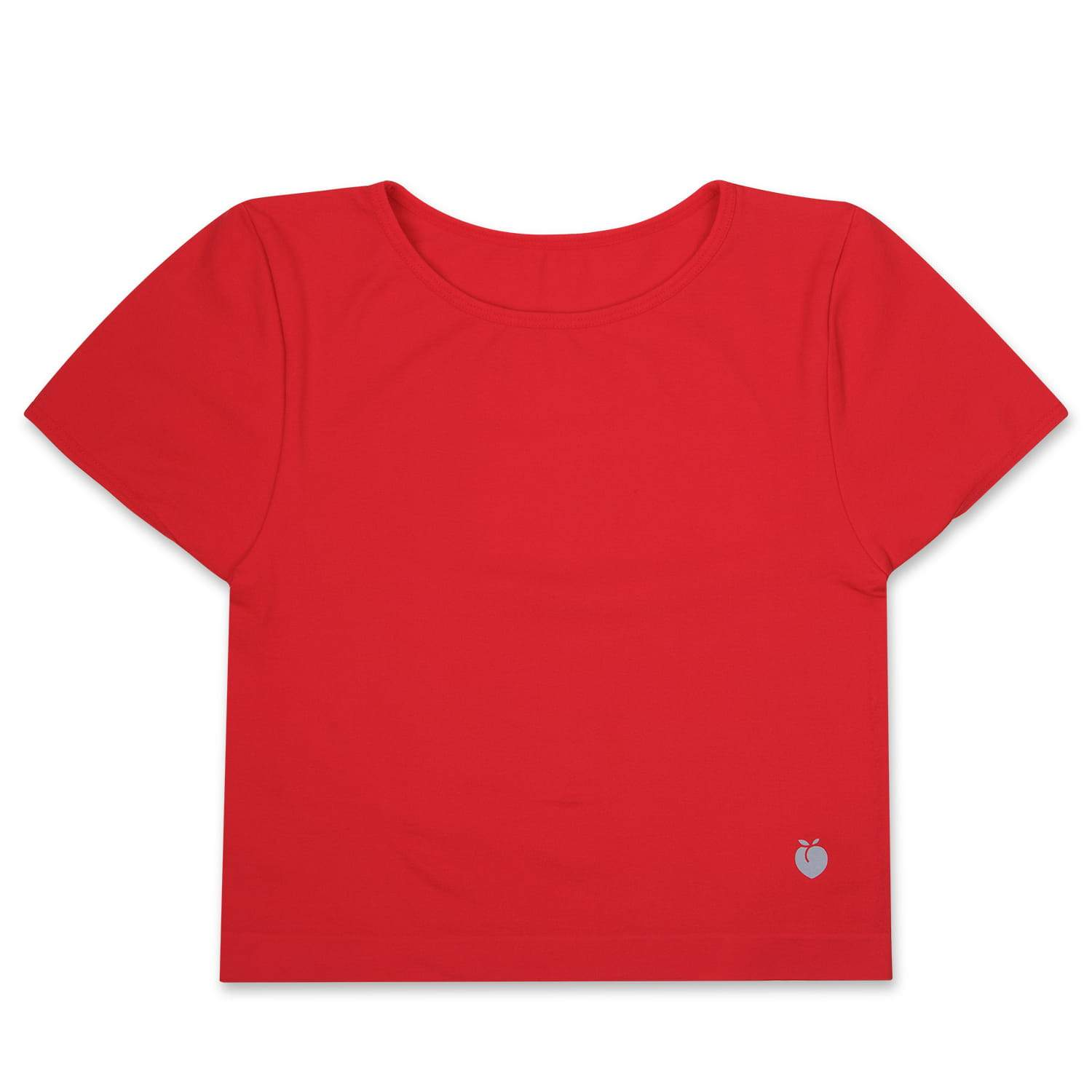 Performance Crop Tee - Ruby