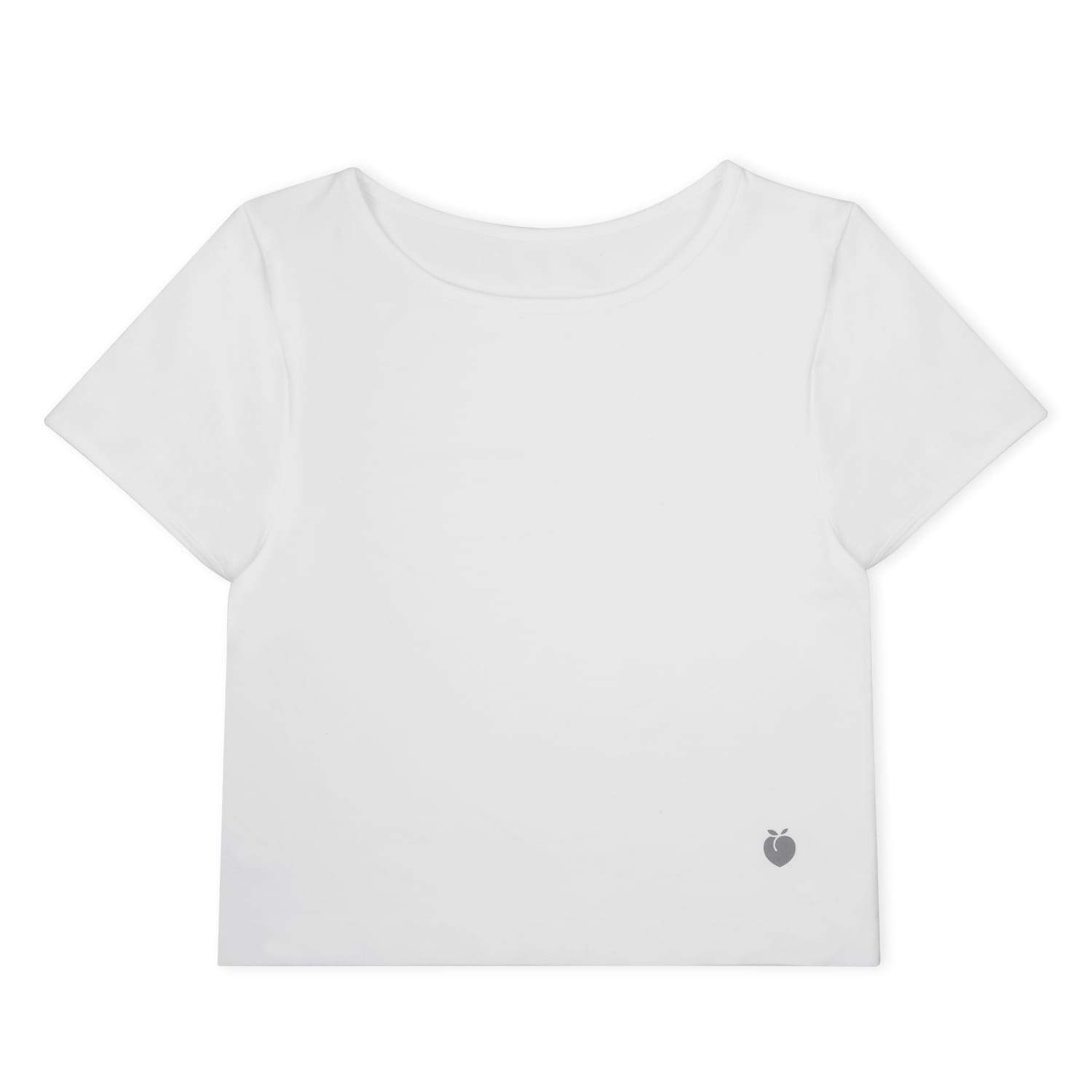Performance Crop Tee - White