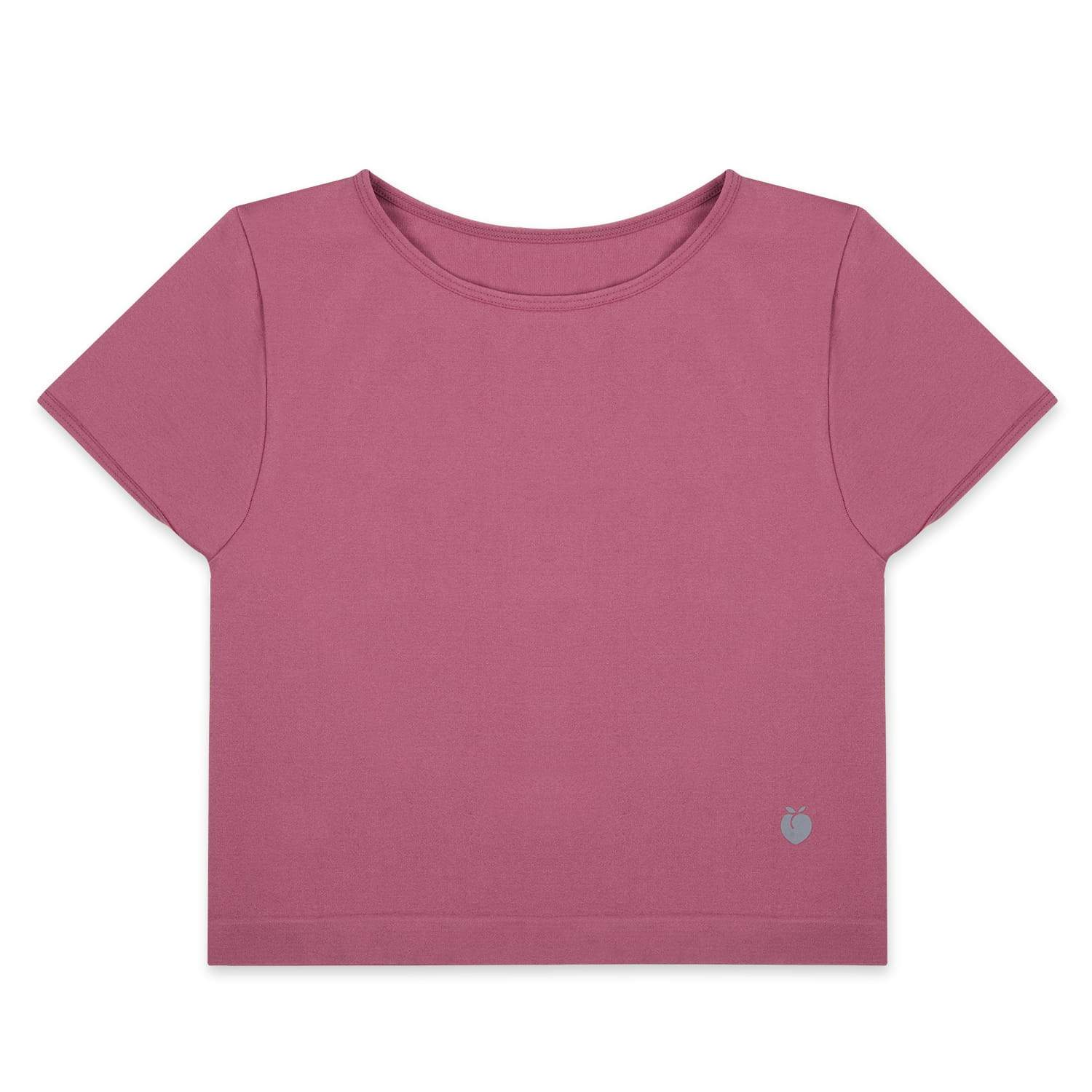 Performance Crop Tee - Raspberry
