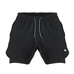 Men's Active Shorts 2.0 (Compression Lined W/ Pocket) - Black/Black