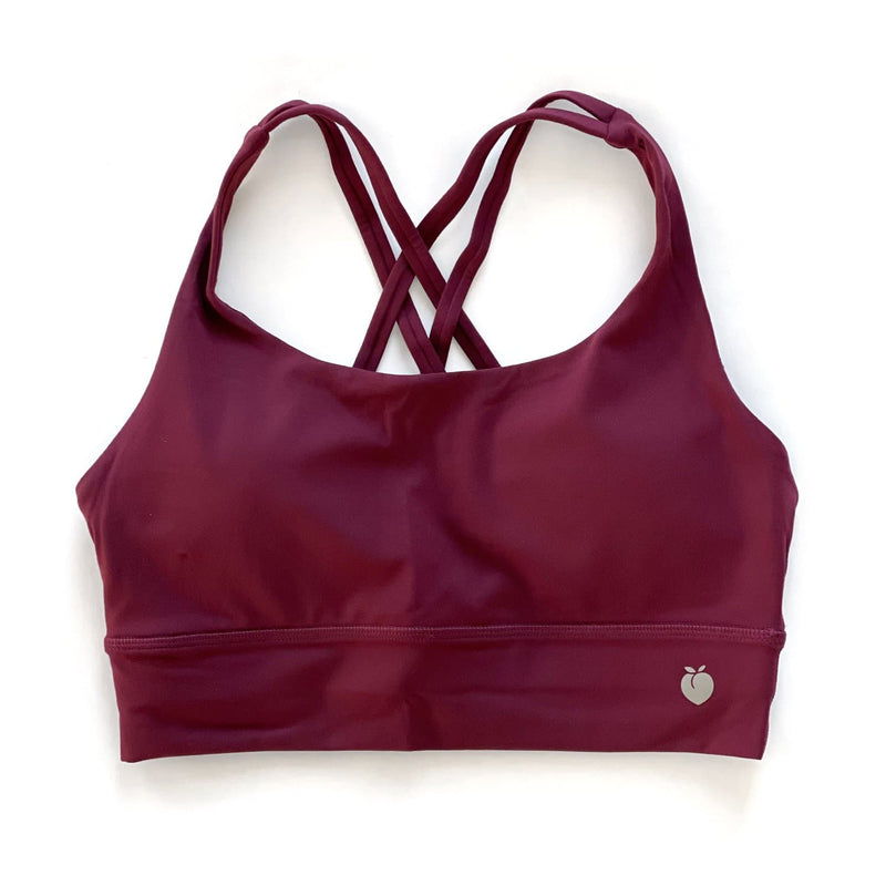 Midi Bra - Wine Red