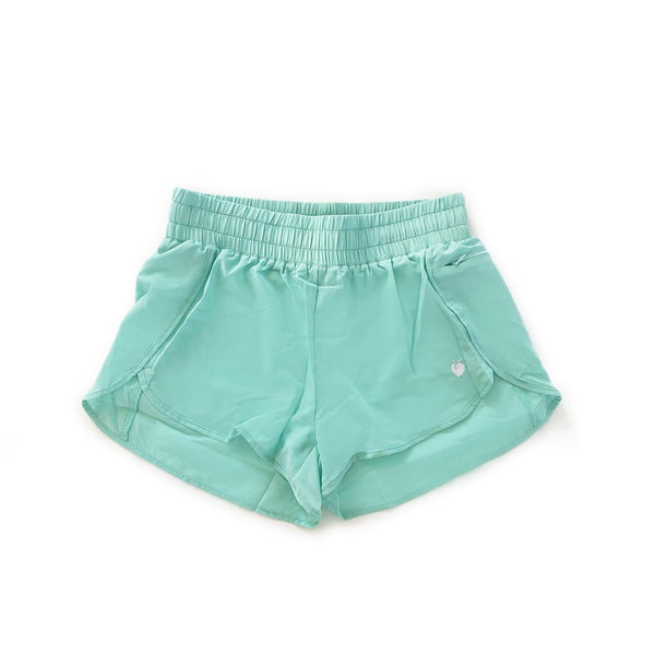 Women's Liner Track Shorts - Mint
