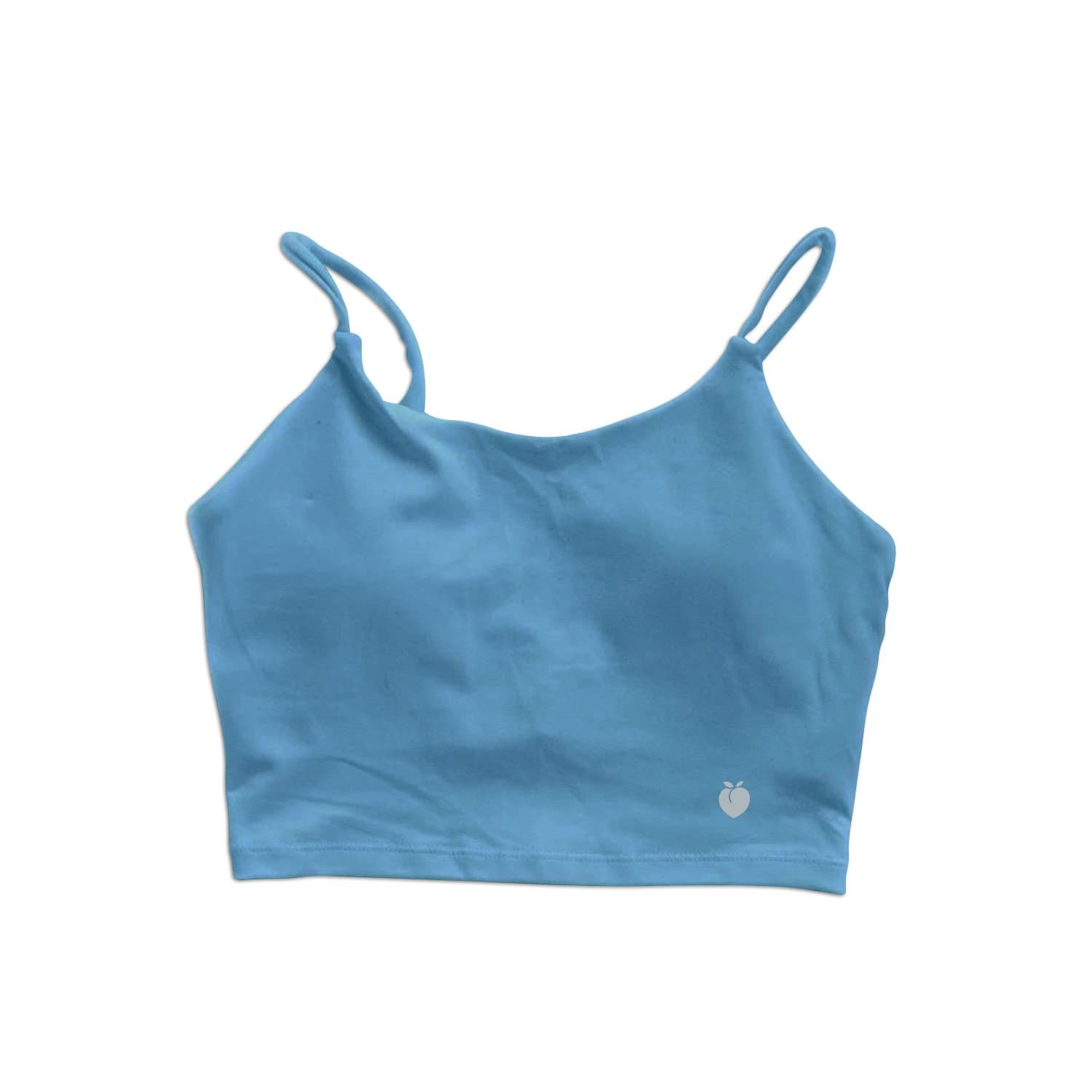 String Crop Top Bra - Sky Blue
