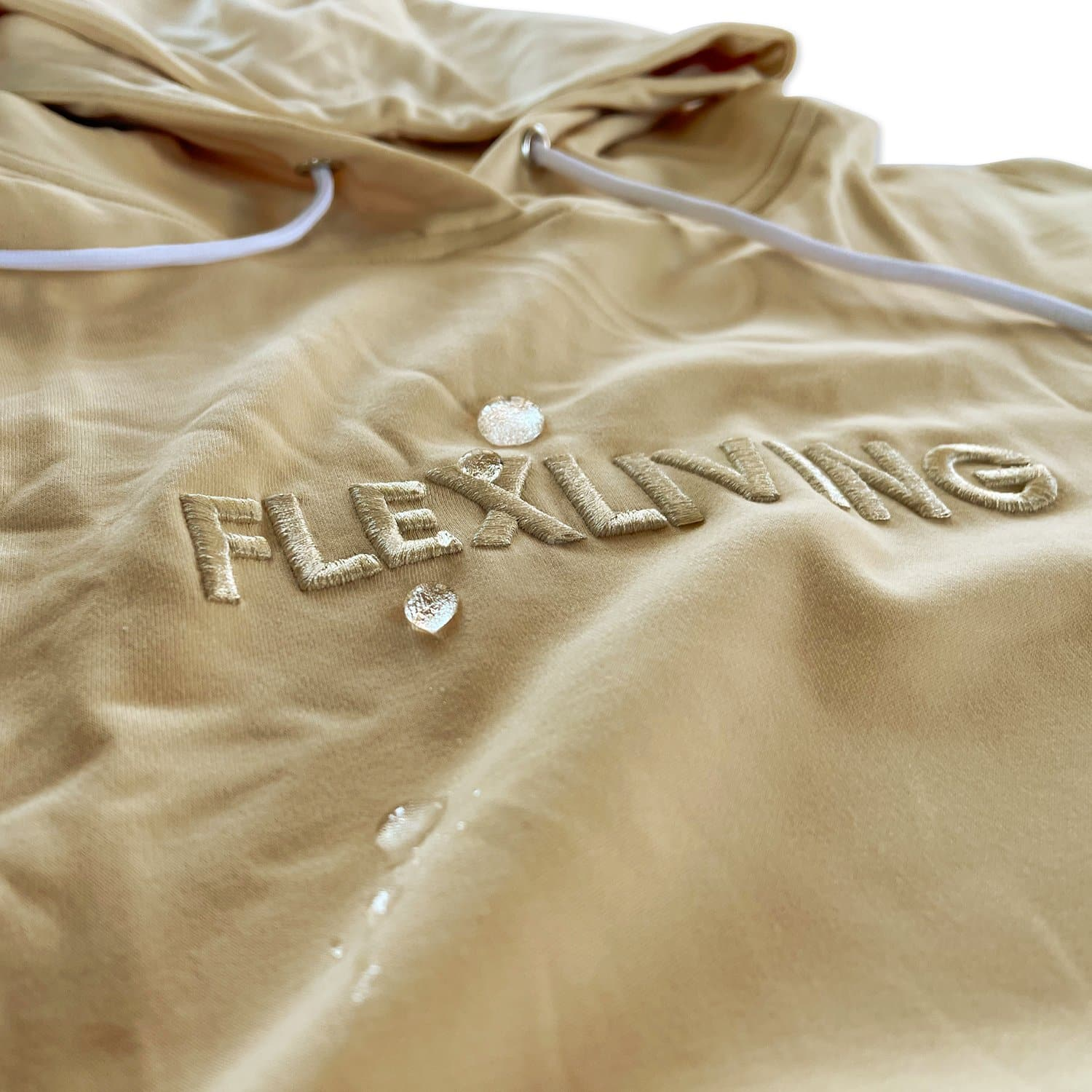 Premium Water-Repellent Hoodie - Butter Cream